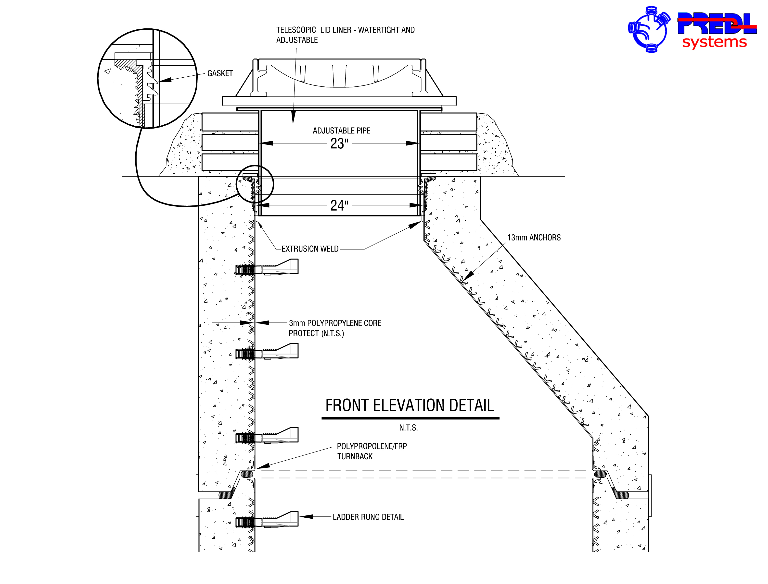 Electrical Precast Concrete Manhole Dimensions : Complete manhole liner systems predl